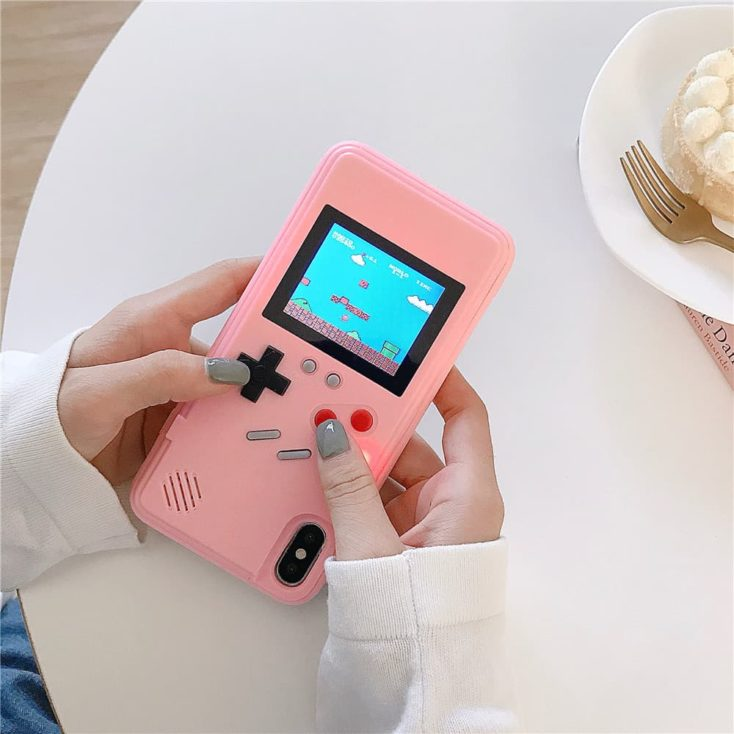 iPhone Case with color display pink