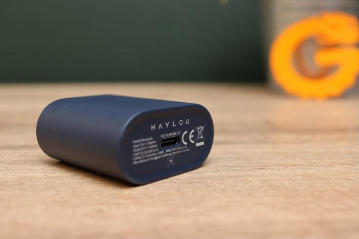 Haylou MoriPods headphone charging port