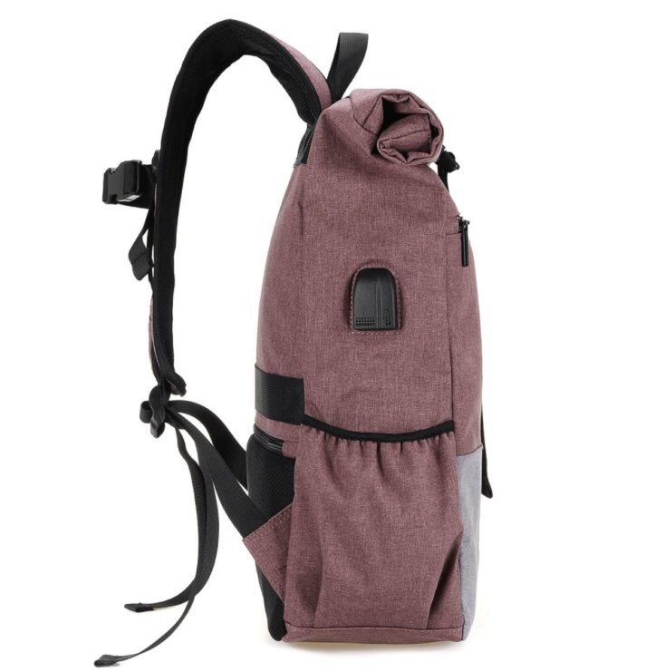 Joseko laptop backpack side view