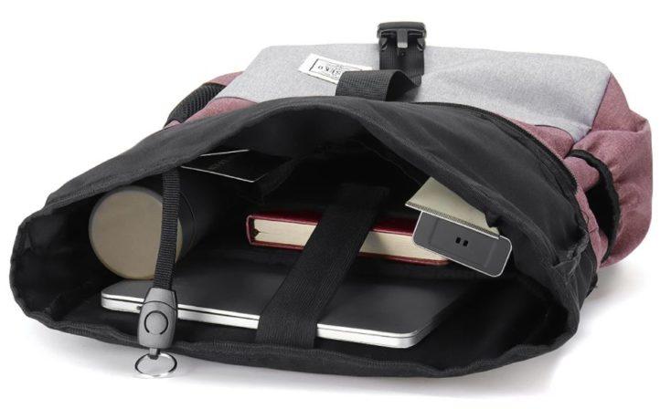 Joseko laptop backpack with contents