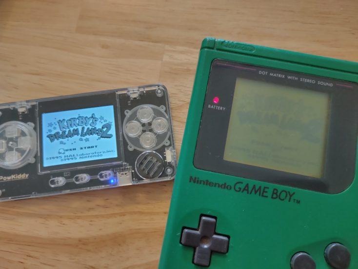 PowKiddy A66 Kirbys Dreamland 2 and Gameboy