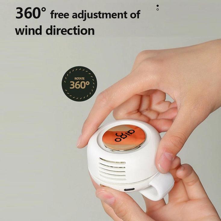 Aigo AGF-03 Mini Clip Fan wind direction