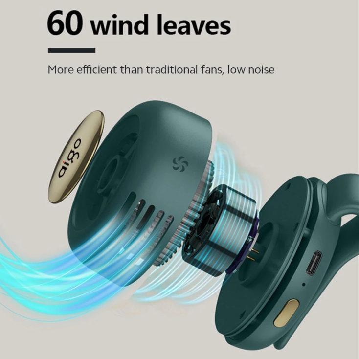 Mini clip fan 60 fan blades