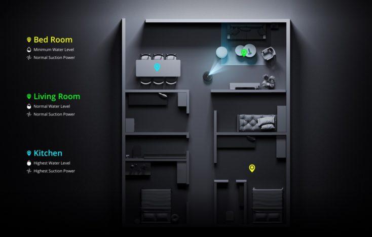 realme TechLife Robot Vacuum room division