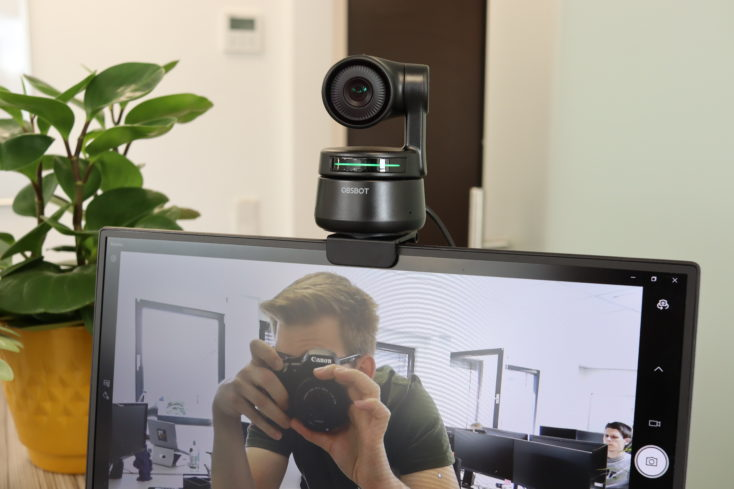 OBSBOT Tiny on monitor