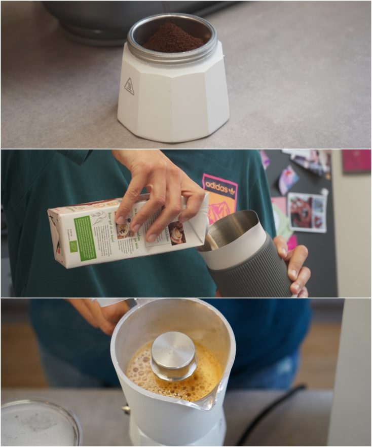SEVENME coffee machine coffee preparation