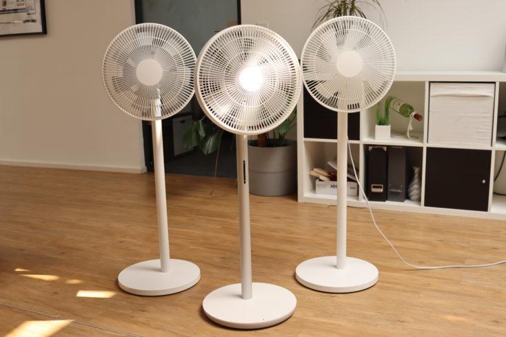 Smartmi Standing Fan 3 fans comparison