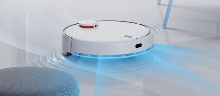 Xiaomi Mijia LDS 2 robot vacuum on the floor