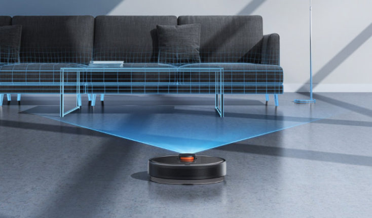 Xiaomi Mijia vacuum robot with extraction station in the room