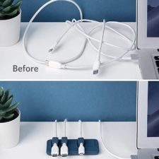 Anker Magnetic Cable Holder before after