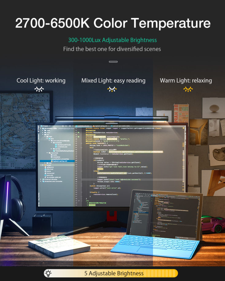 BlitzWolf Screenbar Brightness