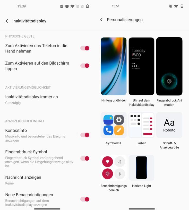 OnePlus Nord 2 5G Always-On-Display