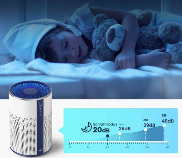 TCL Breeva A1 Air Purifier Sleepmode Volume