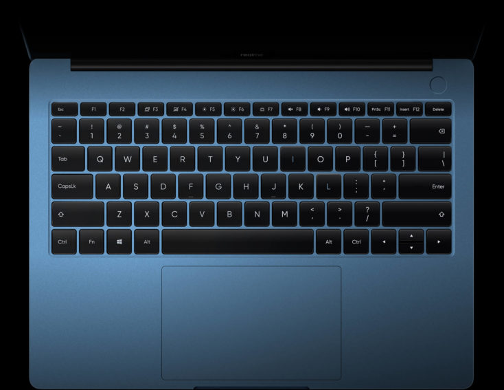 realme Book Notebook keyboard