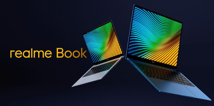 realme Book Notebook product image with lettering