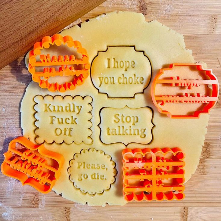 Cookie cutter funny message