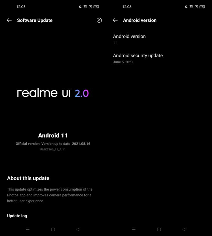 realme UI 2.0 updates