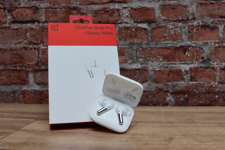 OnePlus Buds Pro headphones with packing