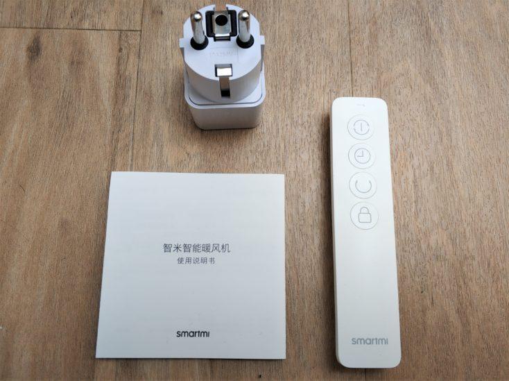 Xiaomi Smartmi electric air heater scope of supply